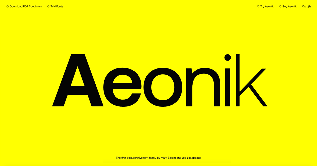 Aeonik — The first collaborative font family by Mark Bloom